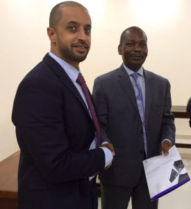 the UAE KP Chair, Ahmed Bin Sulayem with the President of the Chamber of Mines, Mr. Simon Tuma-Waku